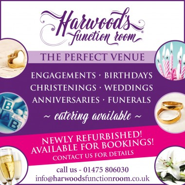 Harwood's Function Room for hire