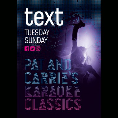 text karaoke tuesday and sunday