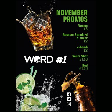 Word Up drink promotions